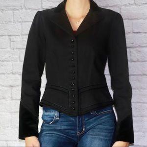 Ralph Lauren Black Denim Velvet Jacket Small